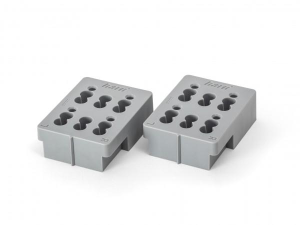 Abstandhalter aus grauem PVC für die Montage einer Schublade der Marke HARN Ritma Cube